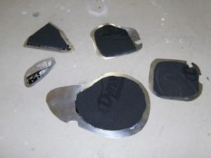 Alumiinikappaleet Alfan oveen